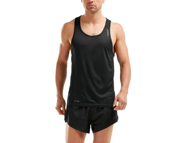 2XU X-VENT Singlet Hombre, black/black